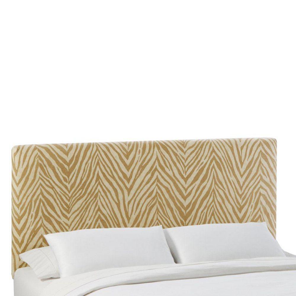 Skyline Furniture Queen Slipcover Headboard in Sudan Camel