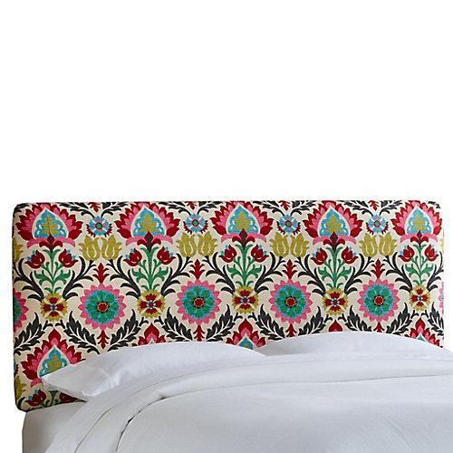 Housse pour tête de très grand lit California en tissu Santa Maria de ton fleur du désert