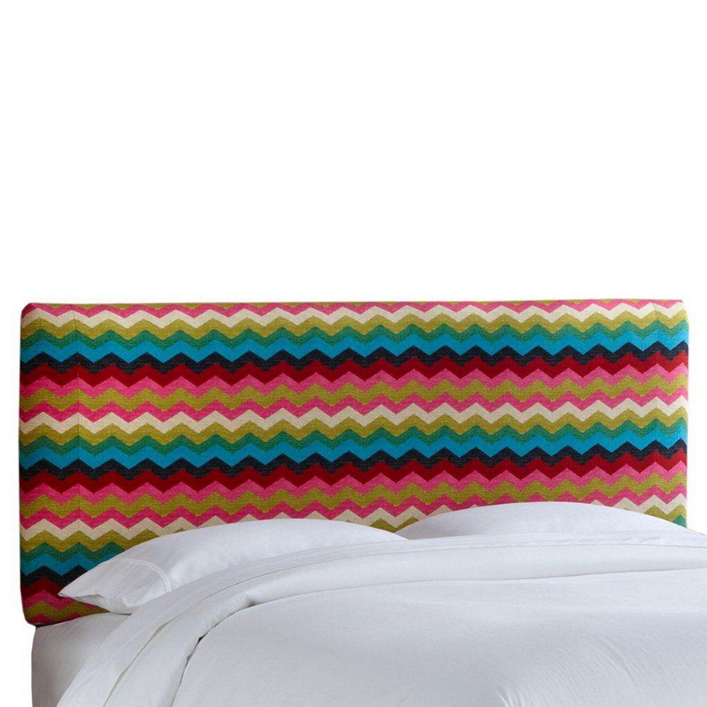 Skyline Furniture Full Slipcover Headboard in Panama Wave Desert Flower