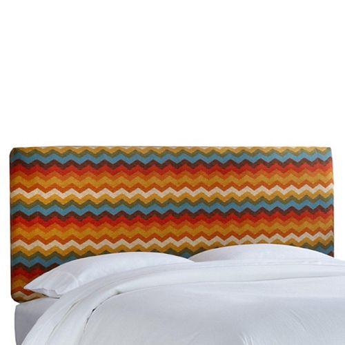 Full Slipcover Headboard in Panama Wave Adobe