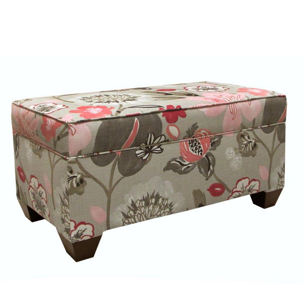 Skyline Furniture 36-inch x 18-inch x 18-inch Ottoman in Brown