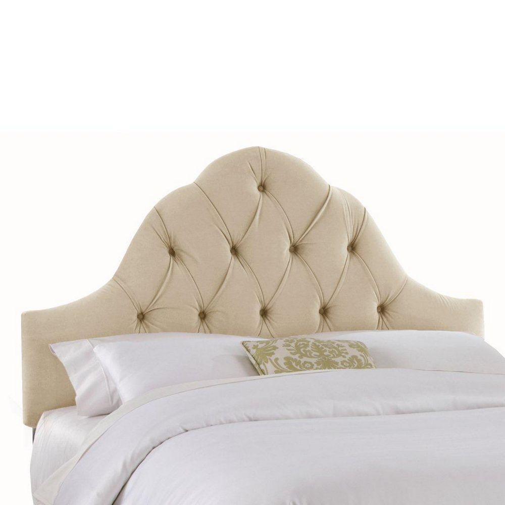 Skyline Furniture Upholstered California King Headboard in Velvet Buckwheat