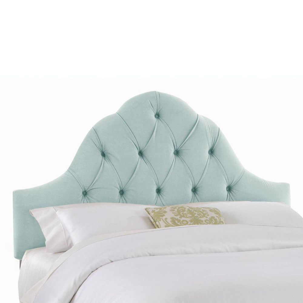 Skyline Furniture Upholstered King Headboard in Velvet Pool
