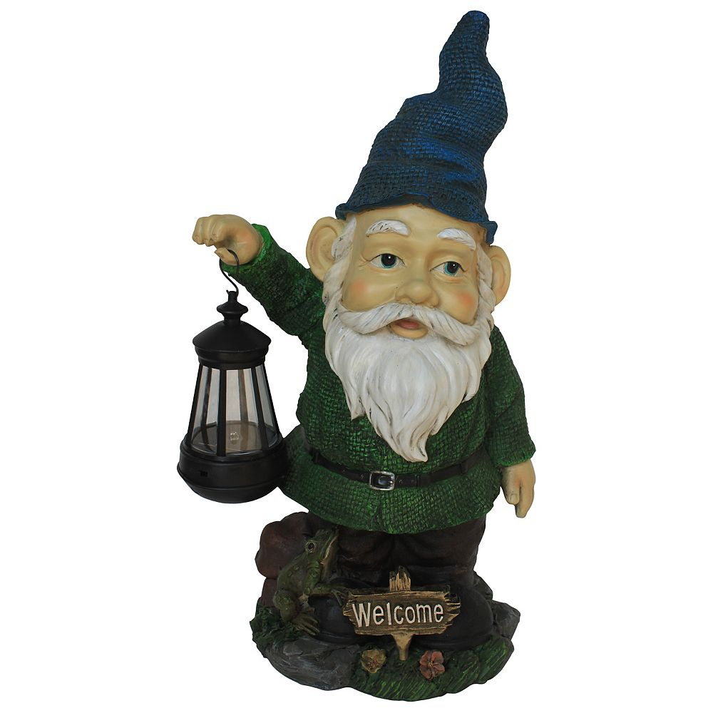 Angelo Décor Gnome with Lantern Statue