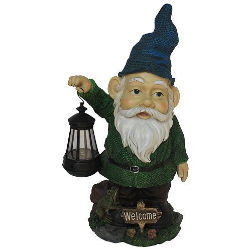Gnome with Lantern Statue