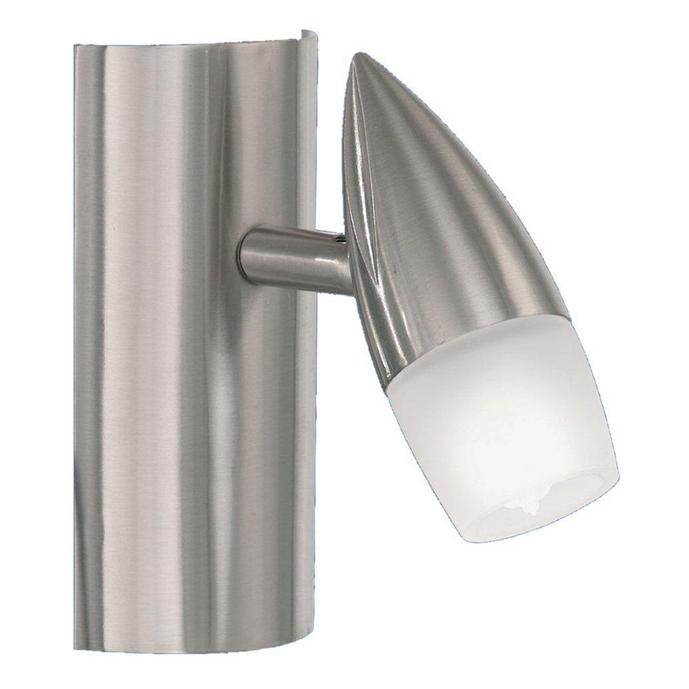 Eglo NANDO Wall Light 1L, Matte Nickel Finish, Satin Glass