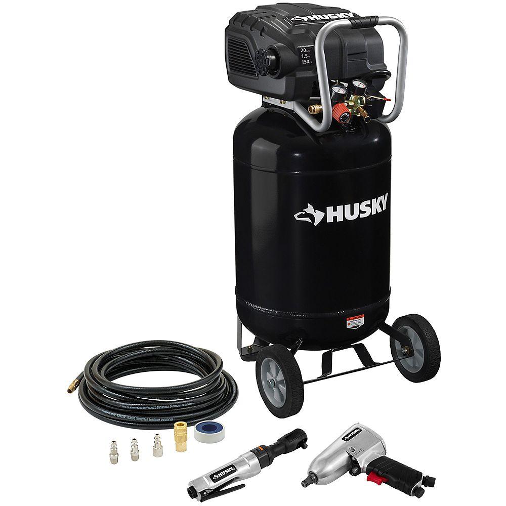 Husky (20 Gal.) Compressor With Tools