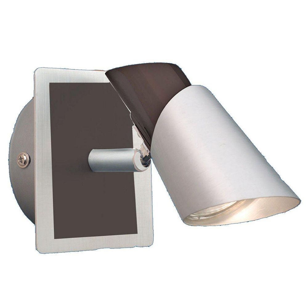 Eglo SKIP BLACK Wall Light 1L, Brushed Aluminum and Black Finish