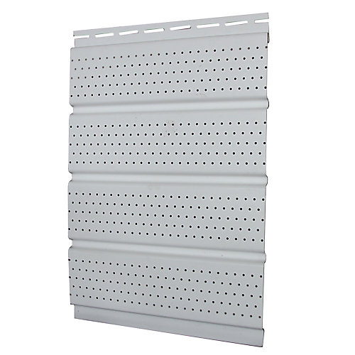 16 inch Perforated Soffit - White Carton