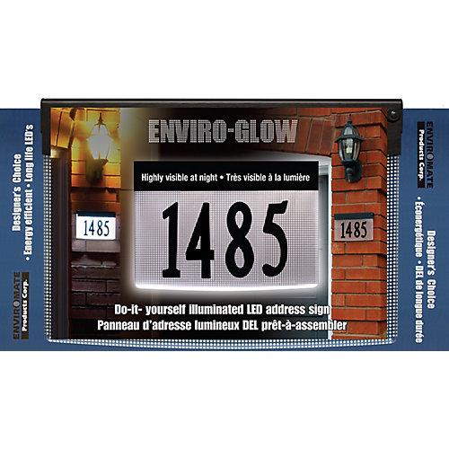 Enviro-Glow Panneau d'adresse lumineux DEL prêt-à-assembler