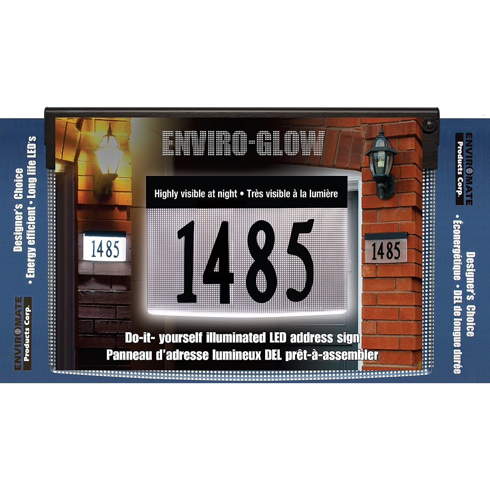 Designer's Choice Enviro-Glow Do-It-Yourself Illuminated Address Plaque Kit