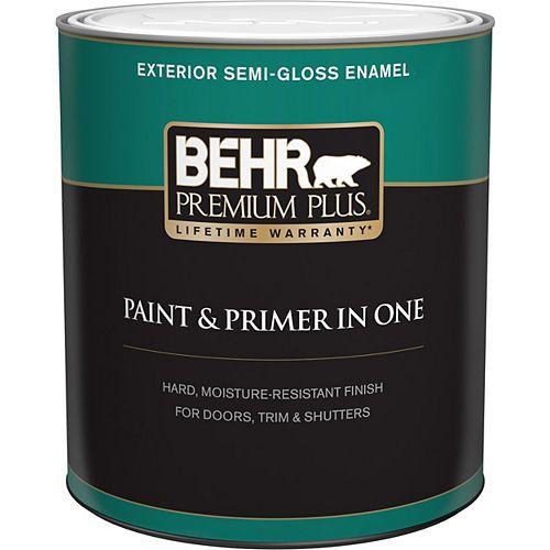Exterior Paint & Primer in One, Semi-Gloss Enamel - Medium Base, 946 mL