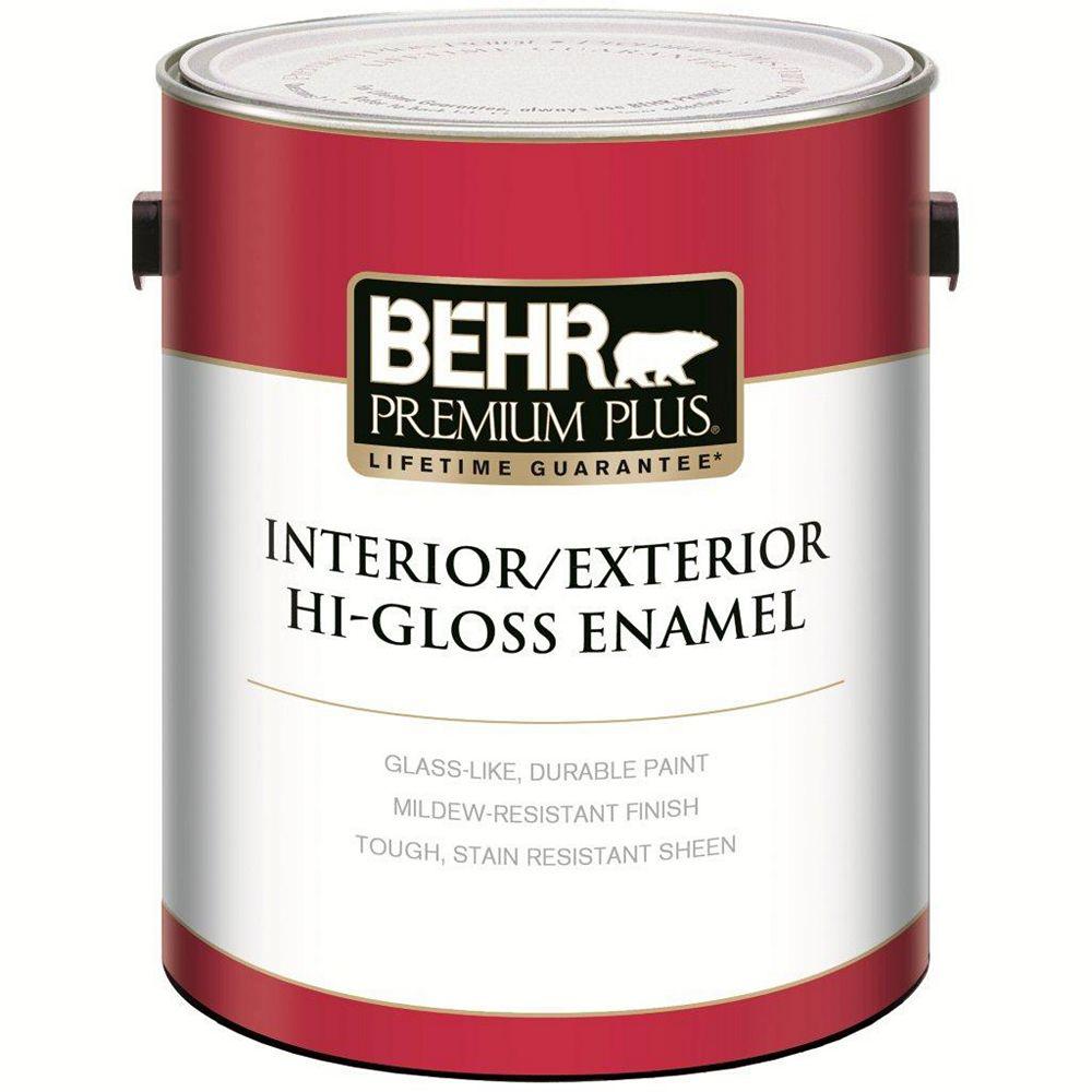 Behr Premium Plus BEHR PREMIUM PLUS Peinture - Intérieur/extérieur émail très brillant - Base moyenne, 3,54 L