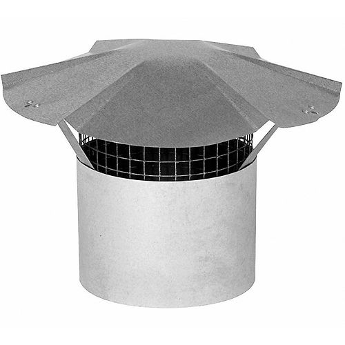 """Chapiteau de cheminée de 5"""" en acier galvanisé"""