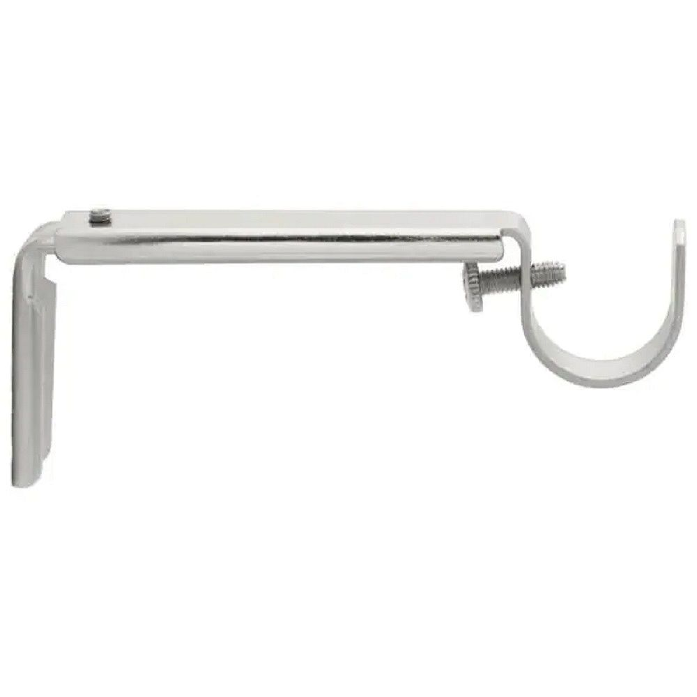 Home Decorators Collection 3/4-inch Decorative Curtain Rod Bracket in Silver