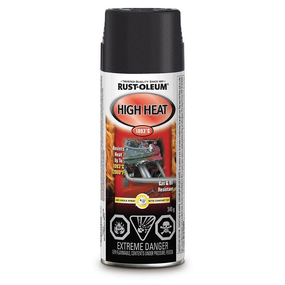 Rust-Oleum Specialty Automotive High Heat Paint in Flat Black, 340 G