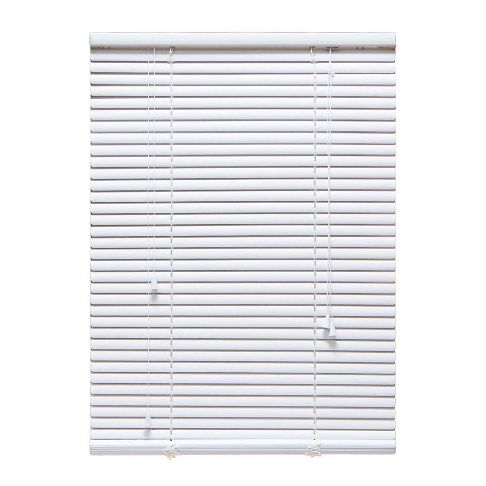 Designview 72-inch W x 48-inch L, 1-inch Room Darkening Vinyl Blinds in White