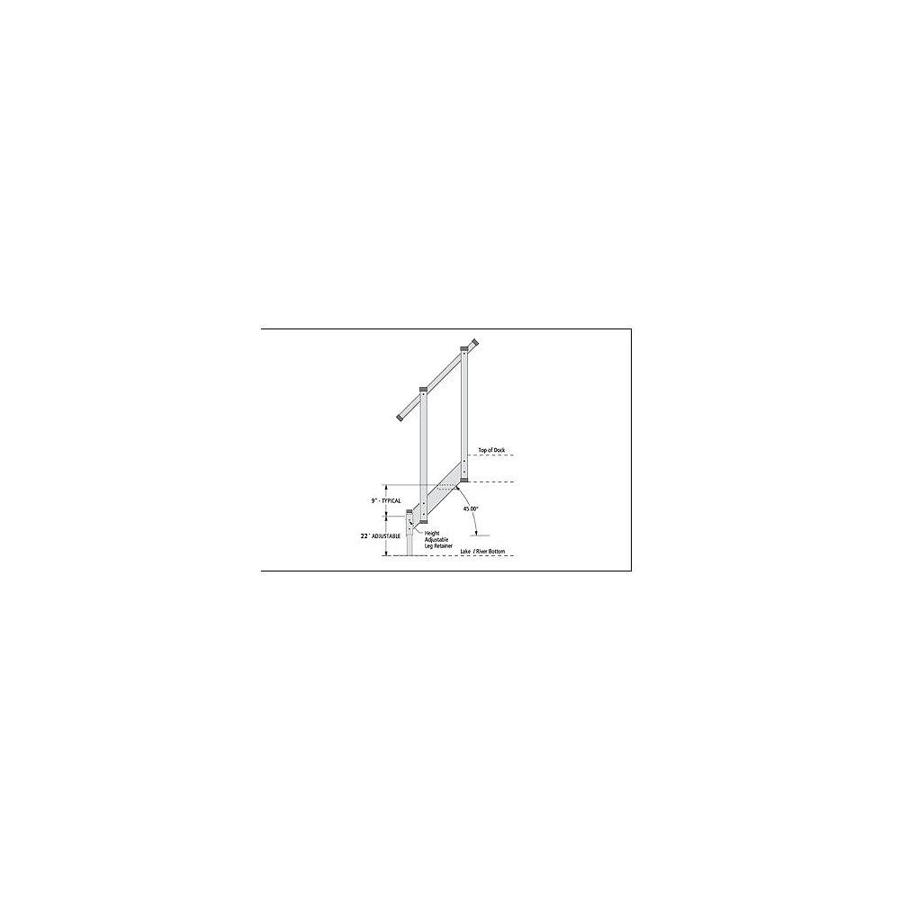 Fendock Escalier en aluminium  2 marches