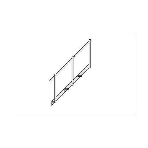 2-Step Aluminum Dock Stairs Extension