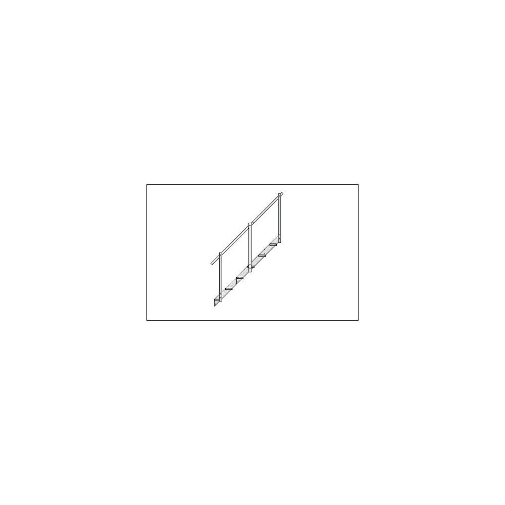 Fendock Rallonge descalier en aluminium  2 marches