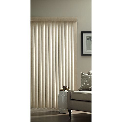 3.5-inch Vertical Blind Kit in Textured Khaki - 78-inch x 84-inch