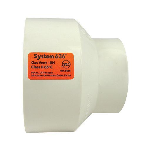 MANCHON PVC-FGV SYSTÈME 636 2 inchesx3 inches H