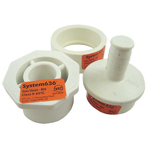 ENSEMBLE DE DRAIN POUR CONDENSAT PVC-FGV SYSTÈME 636 1 1/2 inches & 2 inches