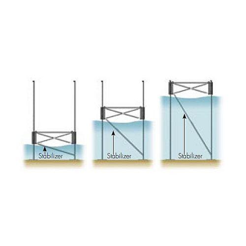 Entretoise télescopique en eau profonde - pour les quais 6' & 12' hauteur