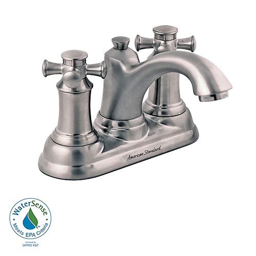 American Standard Portsmouth 2-Handle Bathroom Faucet with Cross Handles and Speed Connect Drain in Satin Nickel