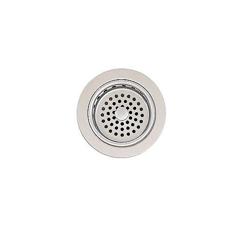 Brass Adjustable Sink Strainer Drain in Stainless Steel