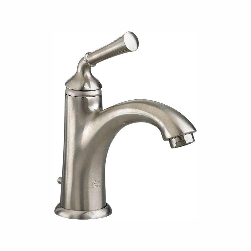 American Standard Portsmouth Single-Handle Mid-Arc Bathroom Faucet with Speed Connect Drain in Satin Nickel