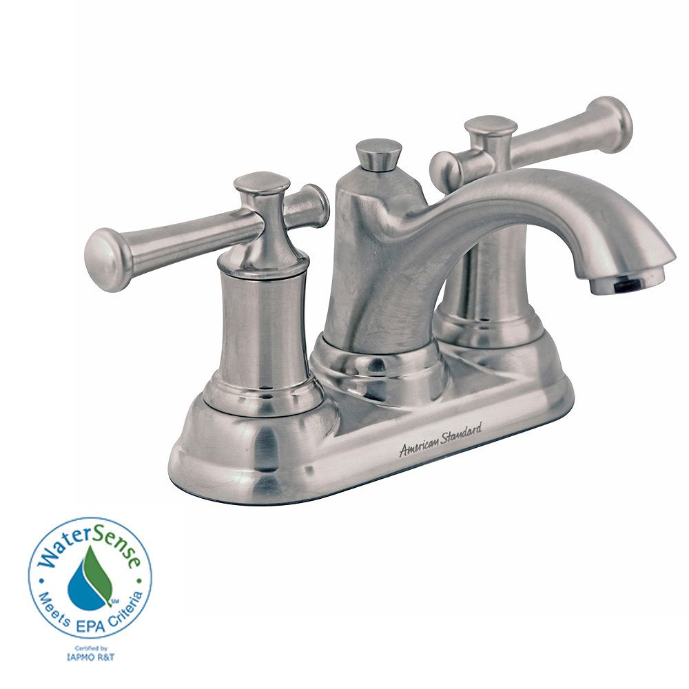 American Standard Portsmouth 2-Handle Bathroom Faucet with Lever Handles and Speed Connect Drain in Satin Nickel