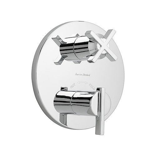 Berwick 2-Handle Thermostat Trim Kit with Separate Volume Control in Polished Chrome (Valve Not Included)