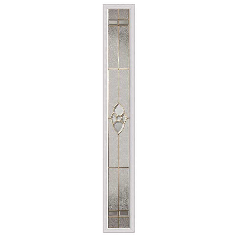ODL Nouveau 8-inch x 64-inch Sidelight Brass Caming with HP Frame