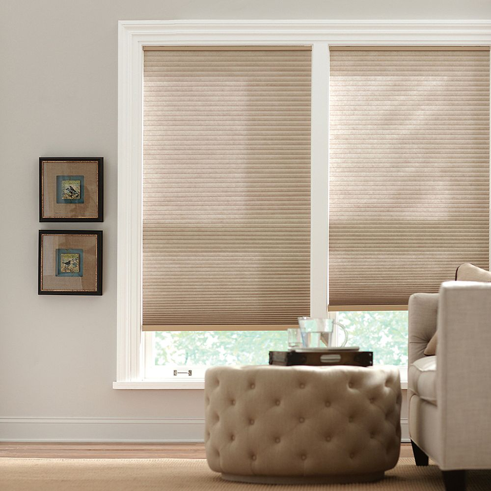 Home Decorators Collection 23-inch W x 72-inch L, Light Filtering Cordless Cellular Shade in Nutmeg Tan