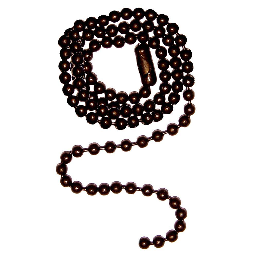 Atron Oil-Rubbed Bronze Beaded Chain - 12 Inch (30.5 cm)