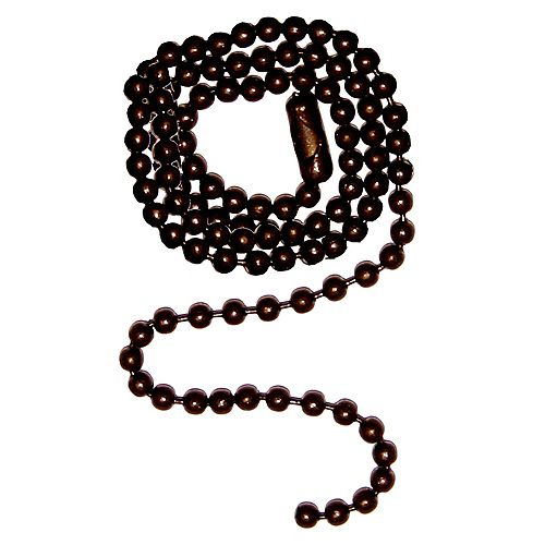 Oil-Rubbed Bronze Beaded Chain - 12 Inch (30.5 cm)