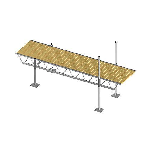 16 ft. x 4 ft. Modular Truss Dock