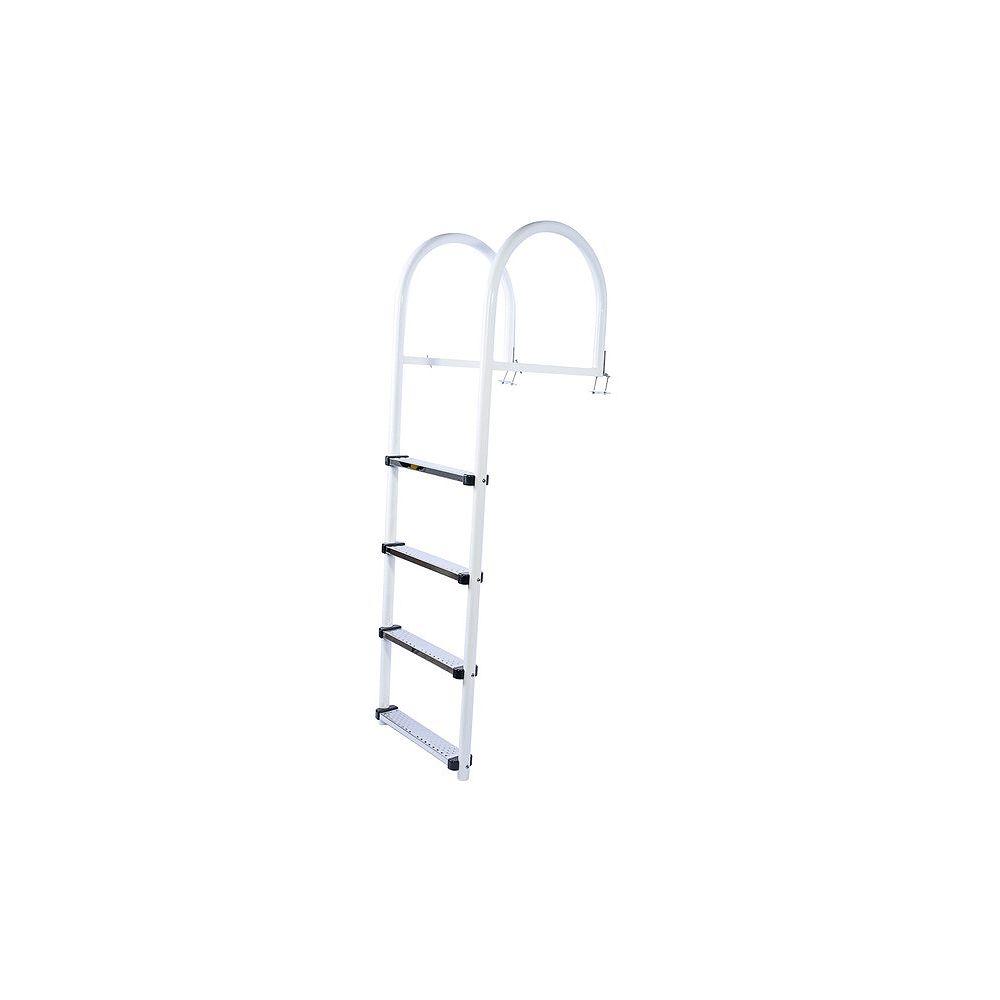 Fendock Échelle haut de gamme en aluminium avec marches en PVC
