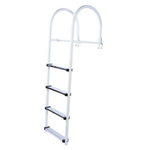 Deluxe Aluminum Ladder  4 Stainless Steel steps