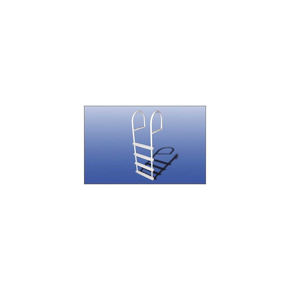 Fendock Échelle haut de gamme en aluminium avec marches en aluminium