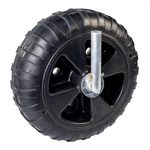 Deluxe 8-inch W x 24-inch Dia Polyethylene Dock Wheel Kit