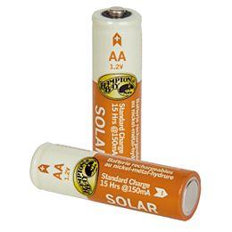 Ensemble de 4 piles rechargeables à hydrure métallique de nickel de 1200 mAh