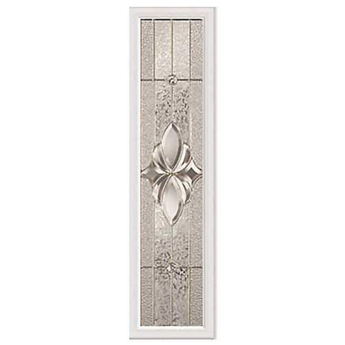 Heirlooms 8-inch x 36-inch Sidelight Satin Nickel Caming with HP Frame