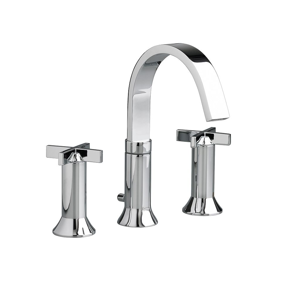 American Standard Berwick 8-inch Widespread 2-Handle Bathroom Faucet with Speed Connect Drain in Polished Chrome