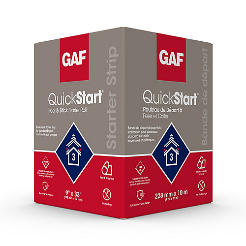 QuickStart Peel and Stick Starter Roll 9-inch x 33 Feet (33 sq. ft.)