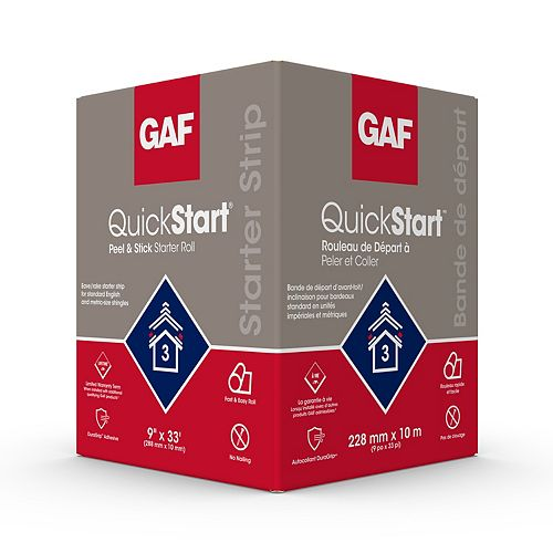 QuickStart 33 lin. ft. Peel and Stick Roofing Starter Shingle Roll