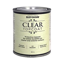 Metallic Accents Water Based Top Coat in Satin Clear, 946 mL