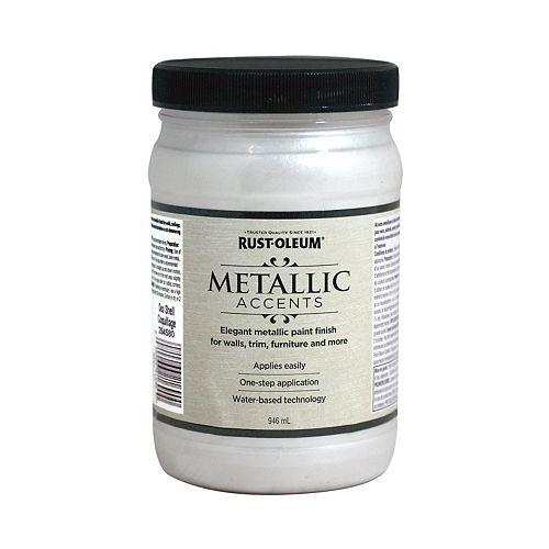 Rust-Oleum Metallic Accents Water Based Metallic Finish in Sea Shell, 946 mL