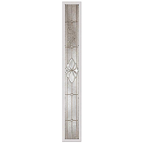 Heirlooms 8-inch x 64-inch Sidelight Satin Nickel Caming with HP Frame